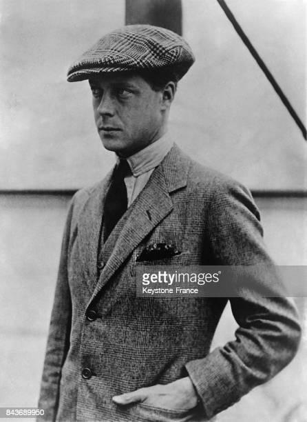 Le prince Edouard VIII en casquette au RoyaumeUni