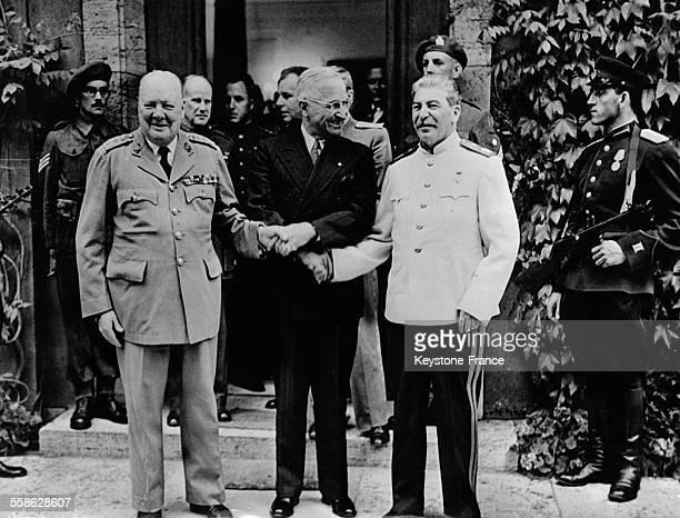 Le président américain Harry Truman et Joseph Staline à Postdam Allemagne en 1945