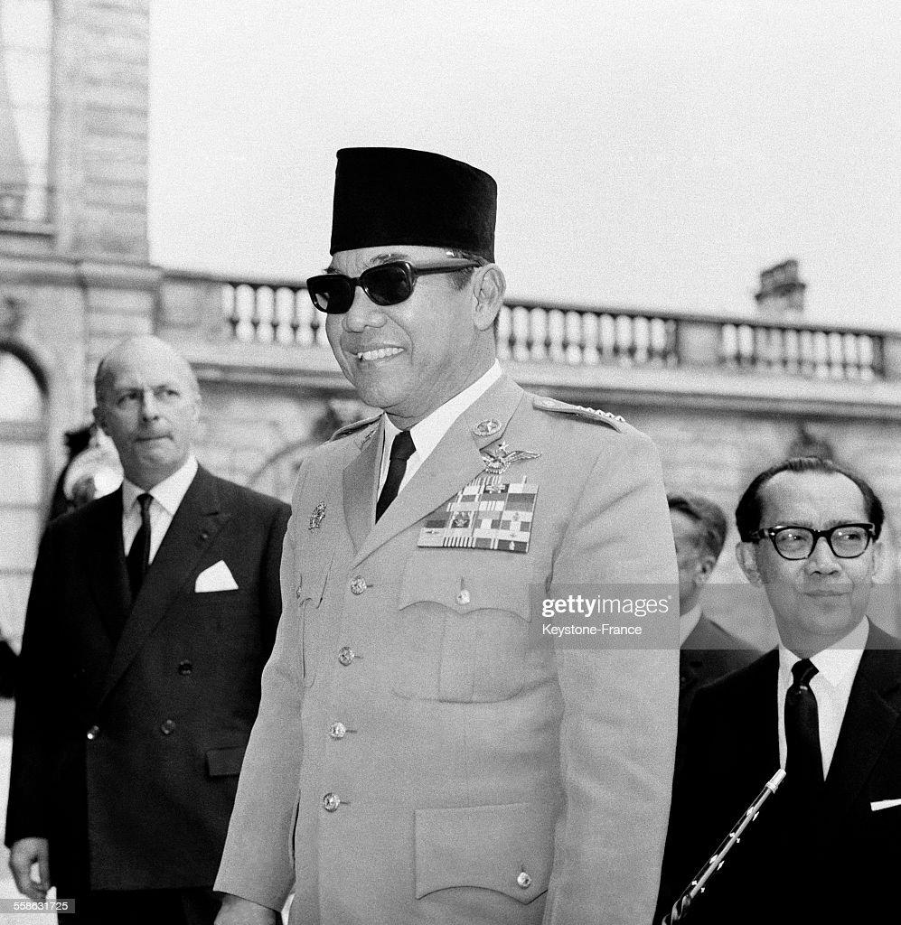 Le Président Soekarno à L'Elysée le 3 juillet 1965 à Paris, France.