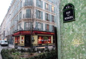 BOUILLON ' Le quartier juif historique de Paris tourne une page ' Picture taken on January 18 2010 in Paris shows the street name of the rue des...