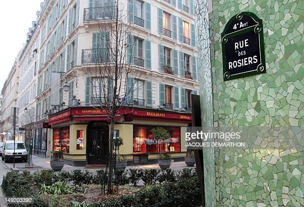 BOUILLON ' Le quartier juif historique de Paris tourne une page ' Picture taken on January 18 2010 in Paris shows the street name of the rue des...