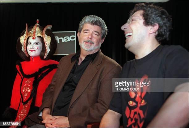 Le réalisateur du film 'Star Wars La menace fantôme' George Lucas participe à une rencontre avec son Fan Club pour débattre de la Saga 'Star Wars' le...
