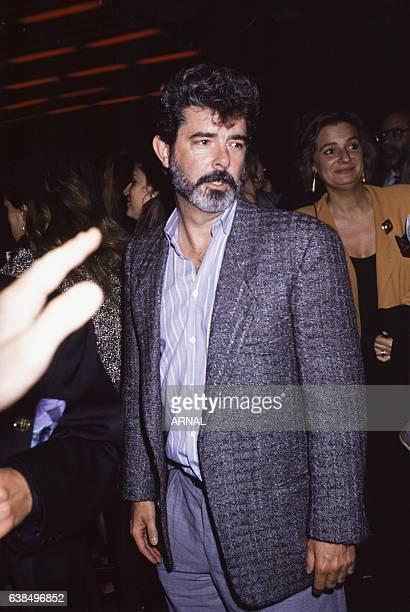 Le réalisateur George Lucas lors d'une soirée au Palace en octobre 1988 à Paris France