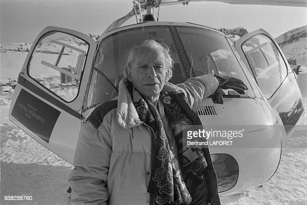 Le réalisateur Samuel Fuller le 22 janvier 1983 à Avoriaz France