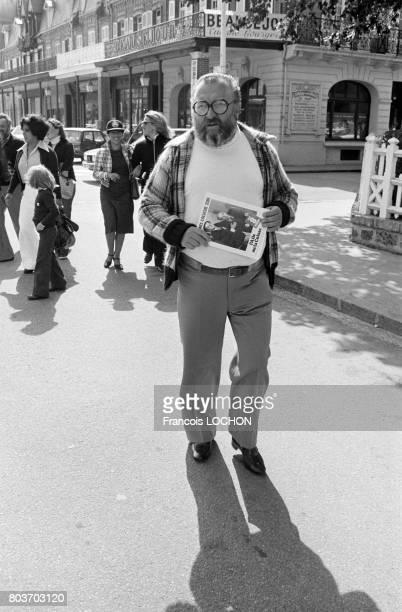 Le réalisateur Sergio Leone au Festival de Deauville en septembre 1976 en France