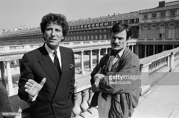 Le réalisateur soviétique Andreï Tarkovski et Jack Lang à Paris France le 1er octobre 1985
