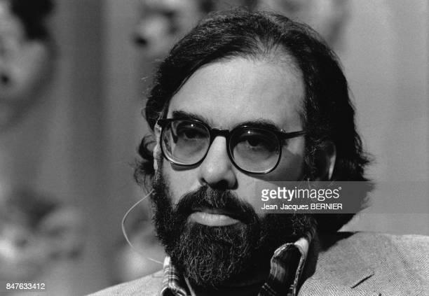 Le realisateur Francis Ford Coppola invite d'une emission sur TF1 en fevrier 1983 Paris France