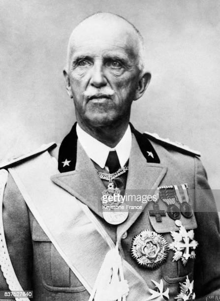 Le roi d'Italie VictorEmmanuel III au temps des spendeurs de la monarchie à Rome Italie circa 1930