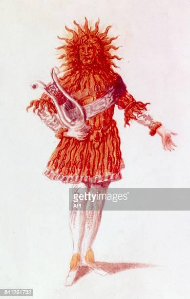 Le roi Louis XIV pendant la fête de Bacchus en 1651