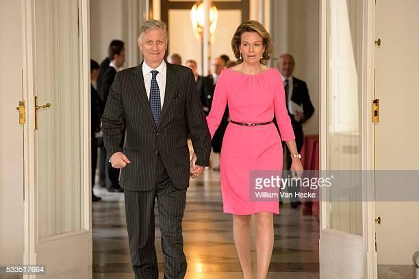 Le Roi Philippe et la Reine Mathilde reçoivent les chefs de postes diplomatiques belges revenus en Belgique à l'occasion des journées de contact...