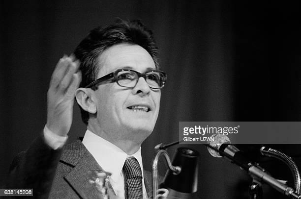 Le secrétaire du Parti Communiste Italien Enrico Berlinguer lors du meeting commun PCIPCF qui a rassemblé 100 000 personnes à Paris France le 3 juin...