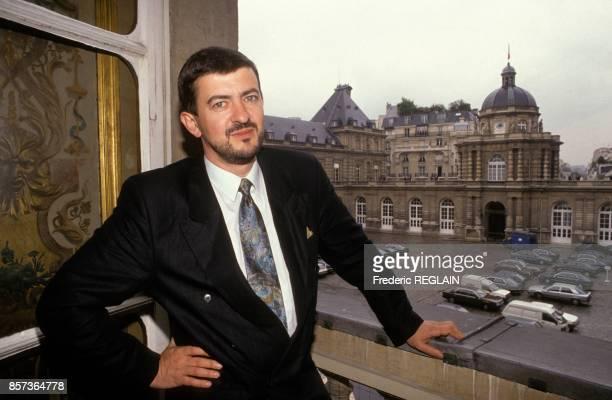Le senateur de l'Essonnne JeanLuc Melenchon le 7 mai 1991 a Paris France