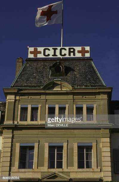 Le siege de la Croix Rouge en novembre 1990 a Geneve Suisse