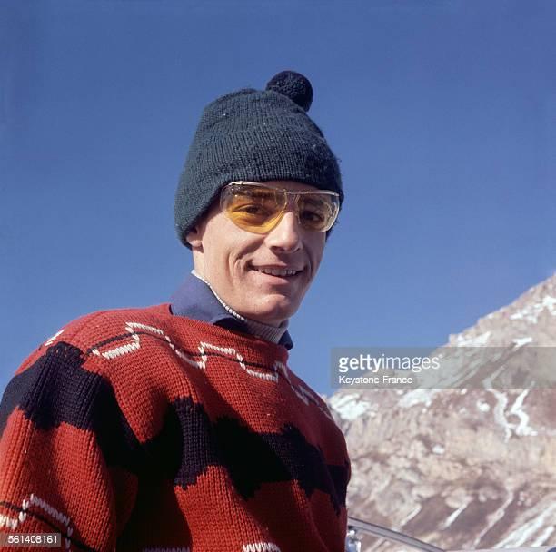Le skieur français JeanClaude Killy aux sports d'hiver circa 1960
