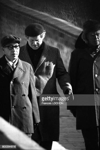 Le sénateur américain Ted Kennedy visite la Grande Muraille le 1er janvier 1978 à Pékin Chine