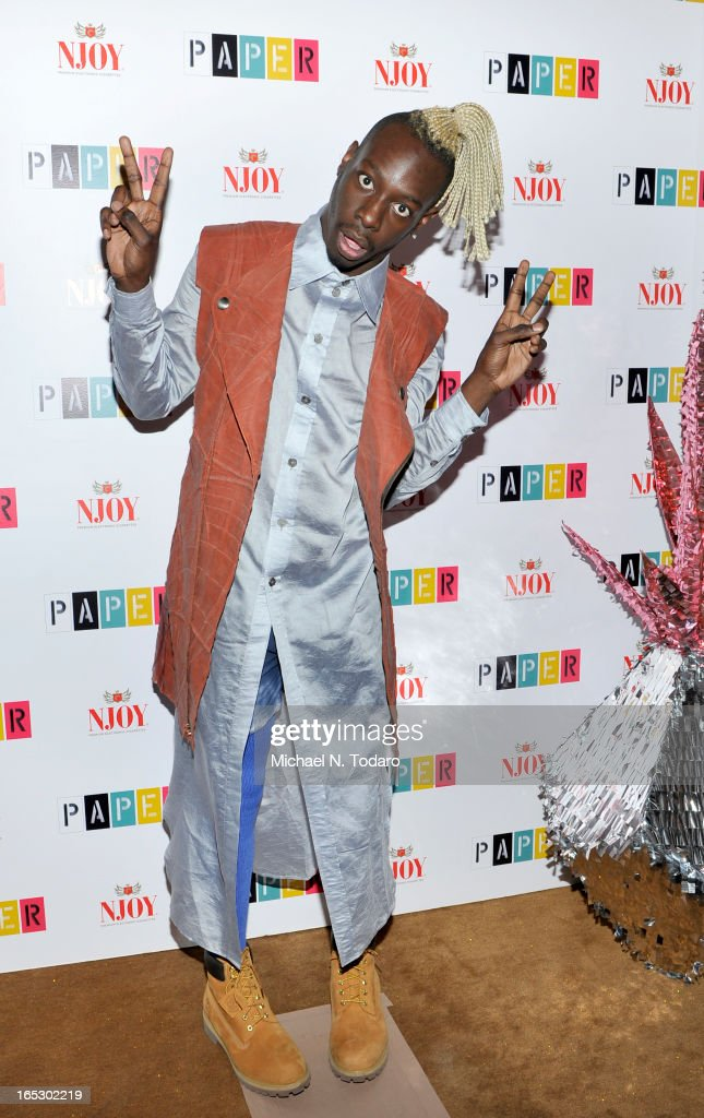 <a gi-track='captionPersonalityLinkClicked' href=/galleries/search?phrase=Le1f&family=editorial&specificpeople=9866542 ng-click='$event.stopPropagation()'>Le1f</a> attends Paper Magazine's 16th Annual Beautiful People Party at Top of The Standard Hotel on April 2, 2013 in New York City.