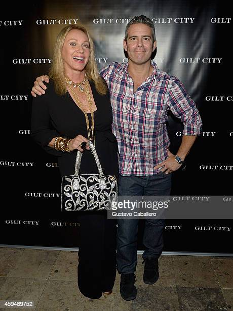 Lea Black and Andy Cohen attends Gilt City Celebrates The Launch Of Andy Cohen's New Book The Andy Cohen Diaries on November 23 2014 in Miami Beach...