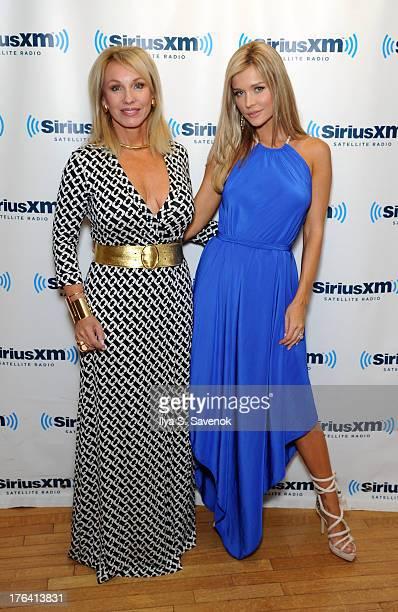 Lea Black and Joanna Krupa visit the SiriusXM Studios on August 12 2013 in New York City