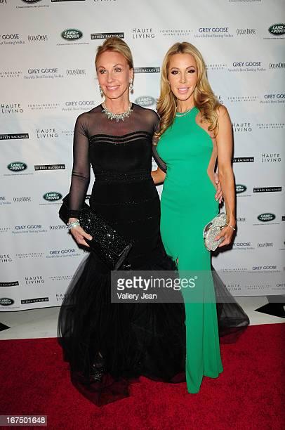 Lea Black and Lisa Hochstein attend The Blacks' Annual Gala 2013 at Fontainebleau Miami Beach on April 13 2013 in Miami Beach Florida