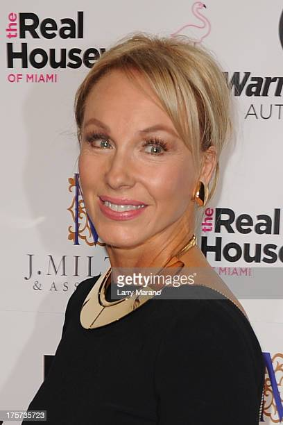 Lea Black attends The Real Housewives of Miami Season 3 Premiere Party on August 6 2013 in Miami Florida