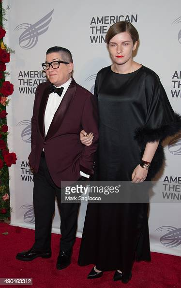 Lea DeLaria and Fashion Editor Chelsea Fairless attend the 2015 American Theatre Wing's Gala at The Plaza Hotel on September 28 2015 in New York City