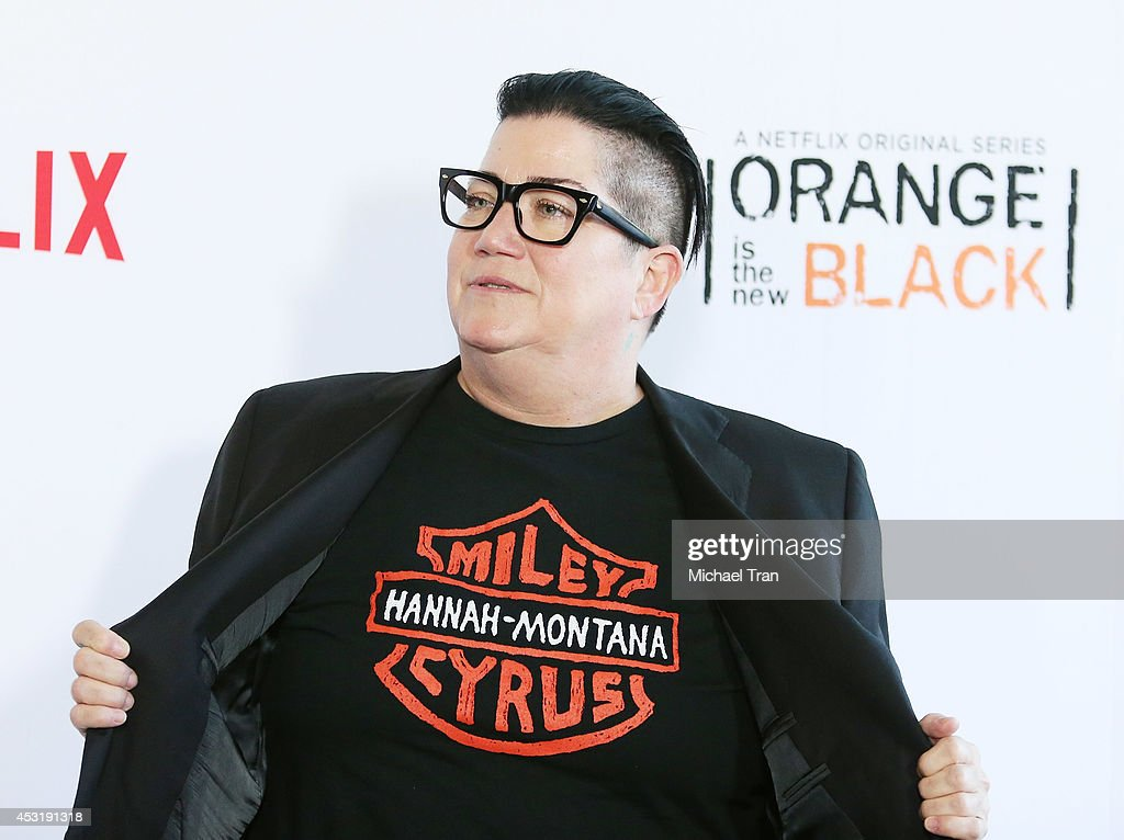 Lea DeLaria arrives at the Los Angeles Screening of 'Orange Is The New Black' held at DGA Theater on August 4 2014 in Los Angeles California