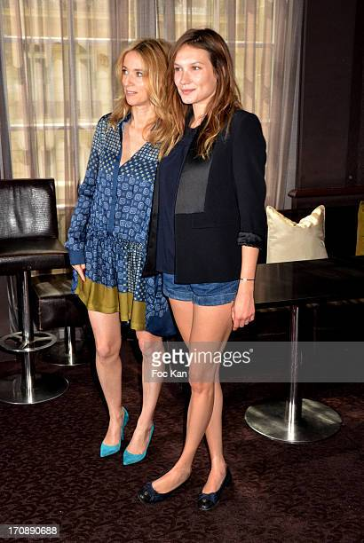 Lea Drucker and Ana Girardot attend the 'Fete du Cinema 2013' Press Conference at the Hotel Pershing Hall on June 19 2013 in Paris France