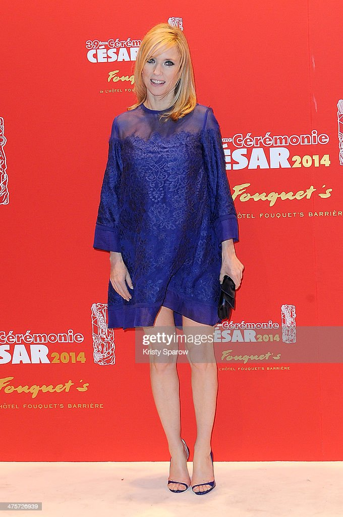 Lea Drucker arrives to Le Fouquet's following the 39th Cesar Film Awards 2014 on February 28 2014 in Paris France