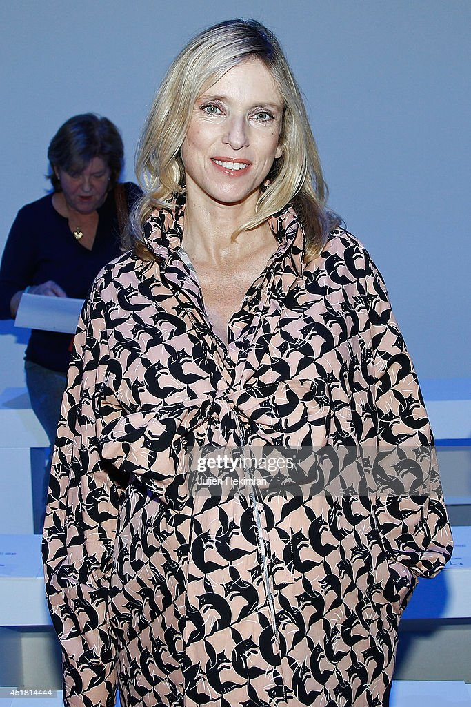 Lea Drucker attends the Georges Hobeika show as part of Paris Fashion Week Haute Couture Fall/Winter 20142015 at l'Ecole des Beaux Arts on July 7...