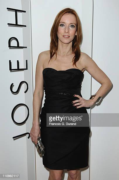 Lea Drucker attends the Joseph flagship opening as part of Paris fashion week at Joseph store on March 8 2010 in Paris France