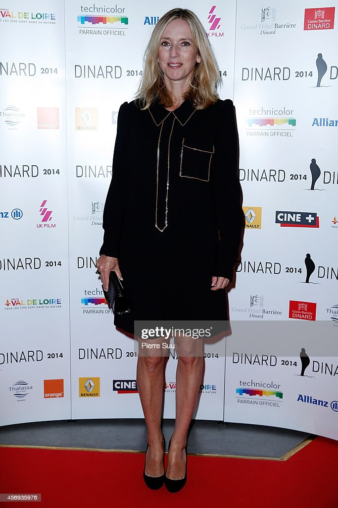 Lea Drucker attends the opening cocktail party of the 25th Dinard film Festival on October 9 2014 in Dinard France