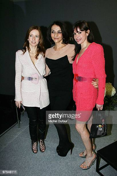 Lea Drucker Nathaie Rykiel and guest attends the Sonia Rykiel Ready to Wear show as part of the Paris Womenswear Fashion Week Fall/Winter 2011 at...
