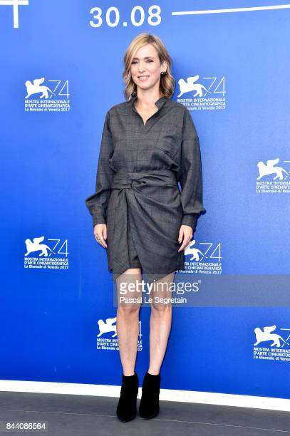 Lea Drucker walks the red carpet ahead of the 'Jusqu'a La Garde' screening during the 74th Venice Film Festival at Sala Grande on September 8 2017 in...