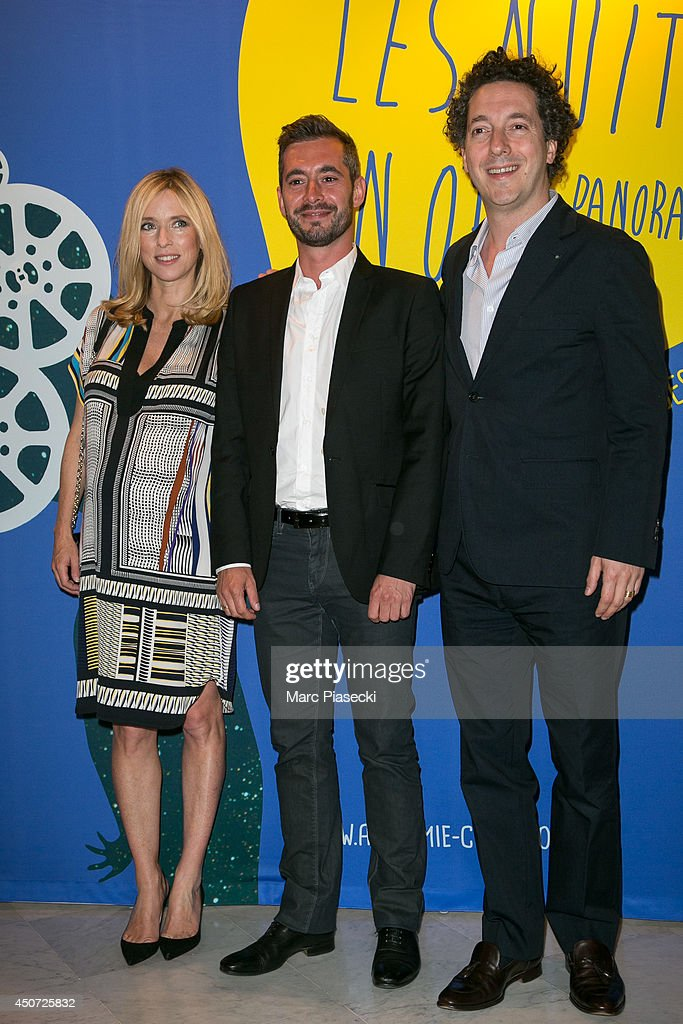 Lea Drucker Xavier Legrand and Guillaume Galienne attend the 'Panorama des Nuits en or' gala dinner UNESCO on June 16 2014 in Paris France