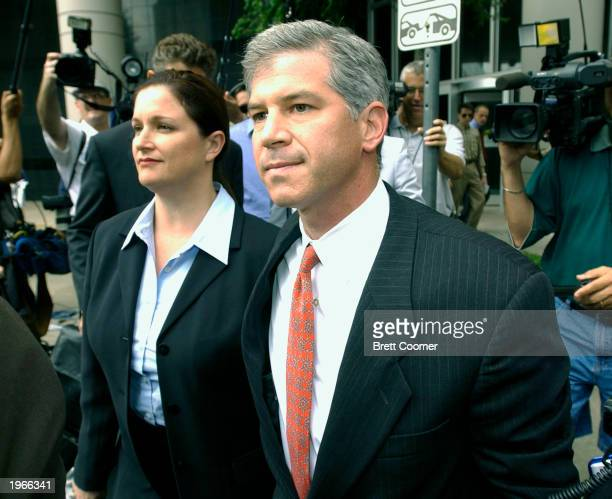 Lea Fastow and her husband former Enron chief financial officer Andrew Fastow leave the Federal Courthouse after Lea Fastow was indicted on several...