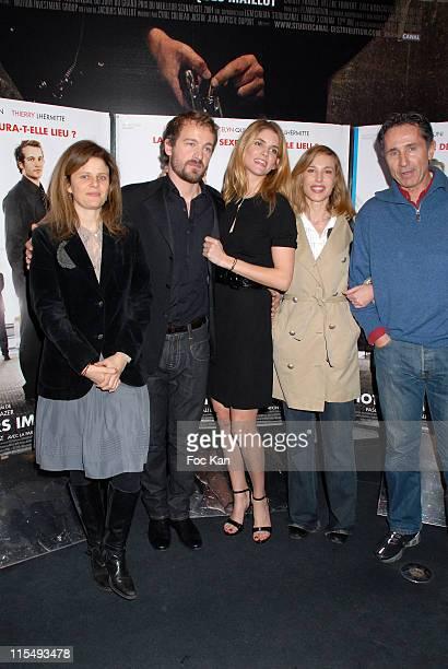 Lea Fazer Jocelyn Quivrin Alice Taglioni Pascale Arbillot and Thierry LhermitteE and Alice Taglioni attend the Notre Univers Impitoyable Premiere at...