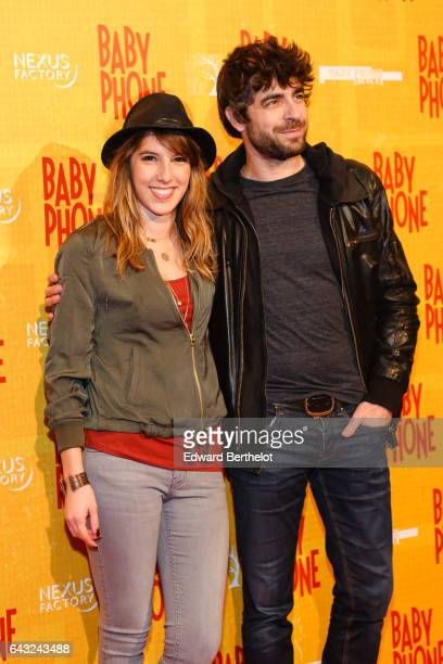 Lea Francois and Agustin Galiana during the 'Baby Phone' Paris Premiere at Cinema UGC Normandie on February 20 2017 in Paris France