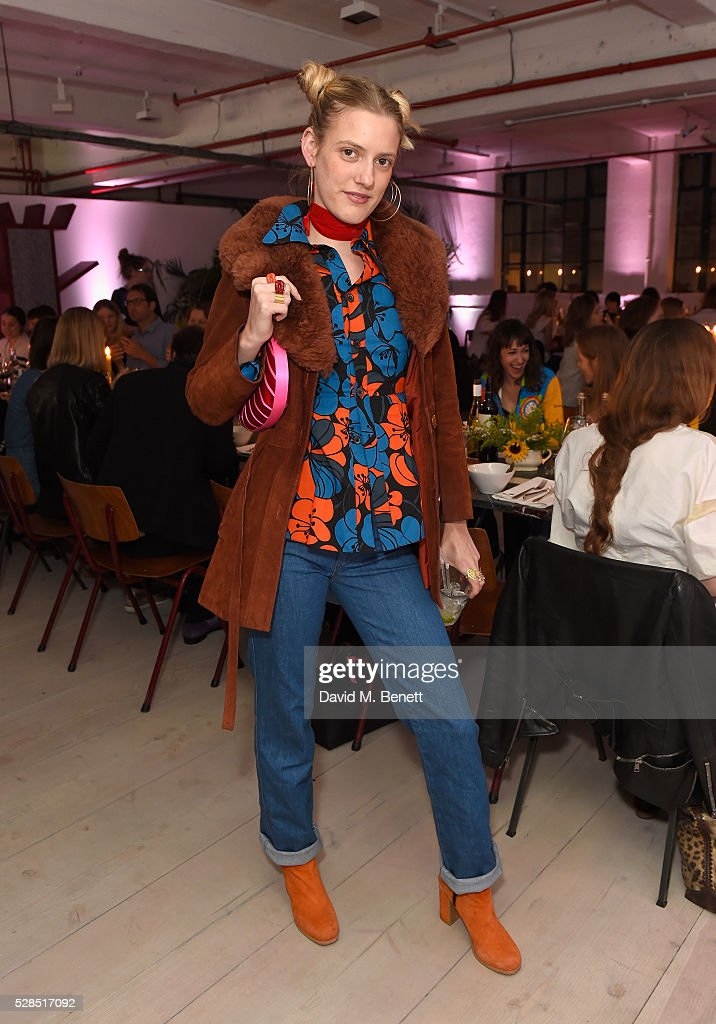 Lea Marcaccini attends a private dinner hosted by M.i.h Jeans to celebrate their 10th anniversary at Brewer Street Car Park on May 5, 2016 in London, England.