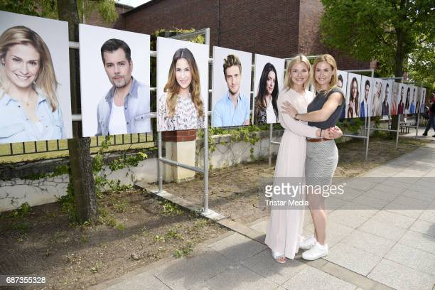 Lea Marlen Woitack and Valentina Pahde pose during the portrait exhibition to celebrate 25th anniversary of tv series 'Gute Zeiten schlechte Zeiten'...