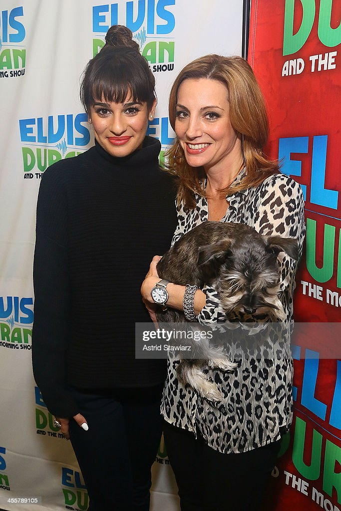 Lea Michele and Danielle Monaro visit the Elvis Duran z100 Morning Show at Z100 Studio on December 3, 2013 in New York City.