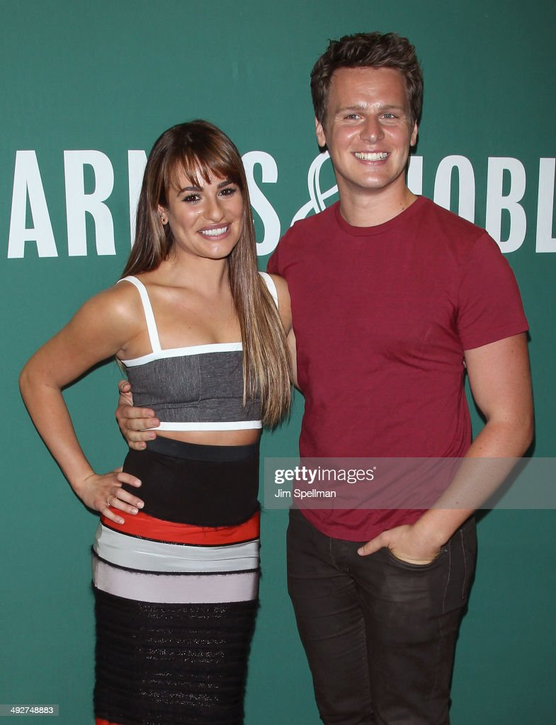 Lea Michele and Jonathan Groff promote 'Brunette Ambition' at Barnes Noble Union Square on May 21 2014 in New York City