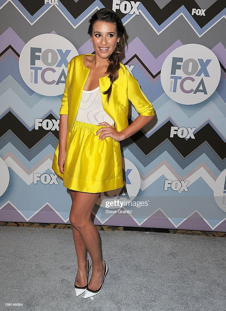 <a gi-track='captionPersonalityLinkClicked' href=/galleries/search?phrase=Lea+Michele&family=editorial&specificpeople=566514 ng-click='$event.stopPropagation()'>Lea Michele</a> arrives at the 2013 TCA Winter Press Tour - FOX All-Star Party at The Langham Huntington Hotel and Spa on January 8, 2013 in Pasadena, California.