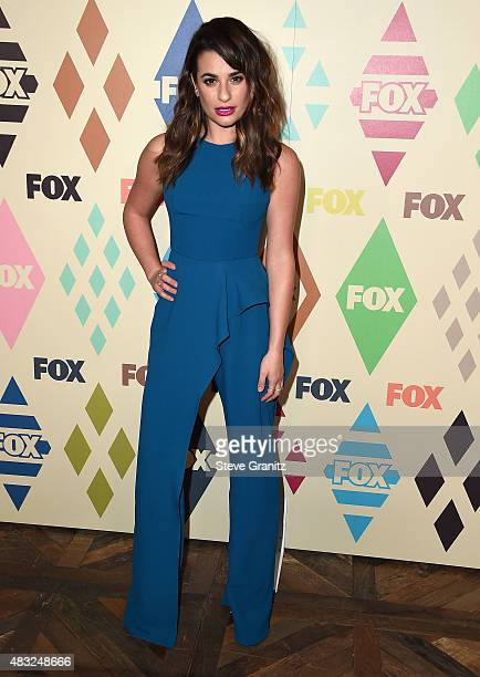 Lea Michele arrives at the 2015 Summer TCA Tour FOX AllStar Party at Soho House on August 6 2015 in West Hollywood California