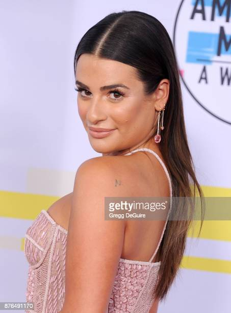 Lea Michele arrives at the 2017 American Music Awards at Microsoft Theater on November 19 2017 in Los Angeles California