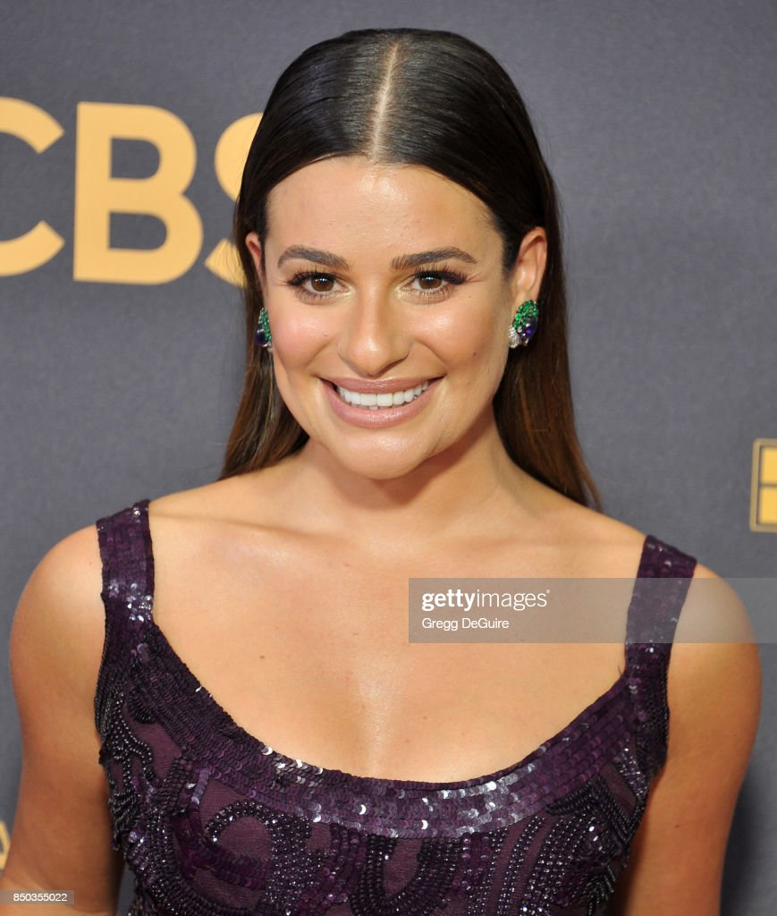 Lea Michele arrives at the 69th Annual Primetime Emmy Awards at Microsoft Theater on September 17, 2017 in Los Angeles, California.