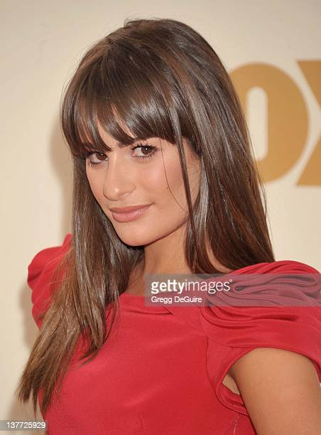 Lea Michele arrives at the Academy of Television Arts Sciences 63rd Primetime Emmy Awards at Nokia Theatre LA Live on September 18 2011 in Los...