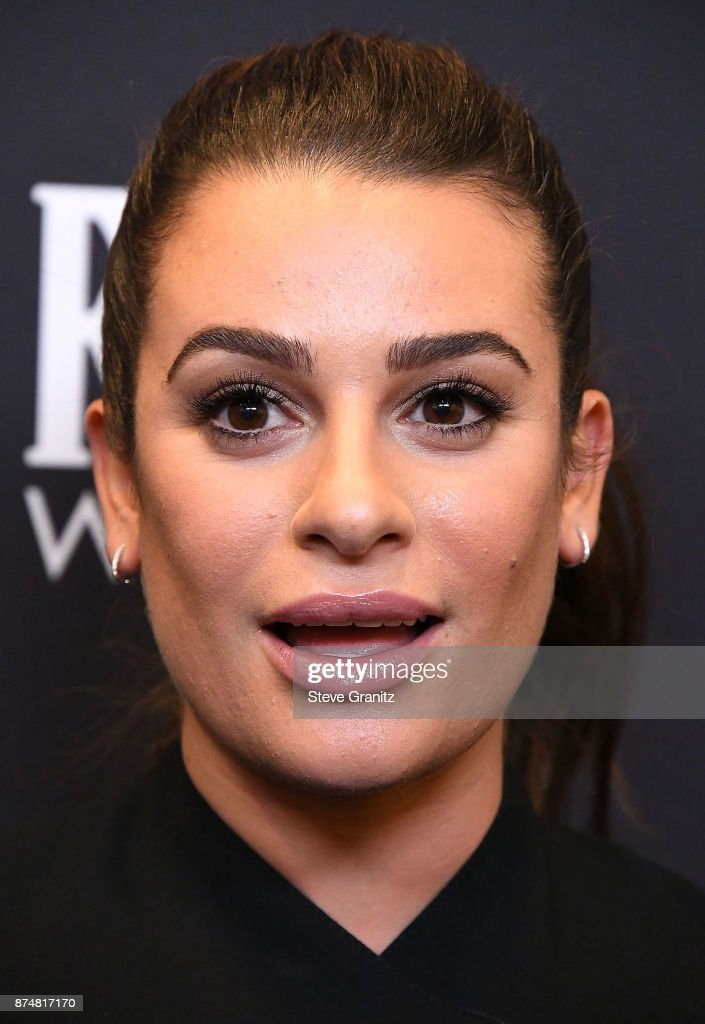 Lea Michele arrives at the Hollywood Foreign Press Association And InStyle Celebrate The 75th Anniversary Of The Golden Globe Awards at Catch LA on November 15, 2017 in West Hollywood, California.