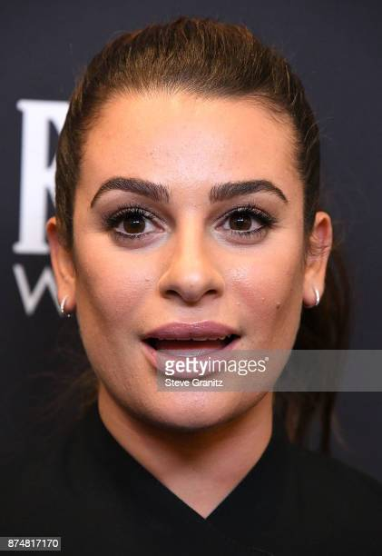 Lea Michele arrives at the Hollywood Foreign Press Association And InStyle Celebrate The 75th Anniversary Of The Golden Globe Awards at Catch LA on...