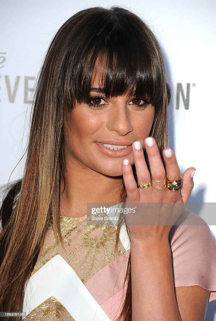 Lea Michele arrives at the The Beverly Hilton Unveils Redesigned Aqua Star Pool By Estee Stanley at The Beverly Hilton Hotel on May 22, 2013 in Beverly Hills, California.