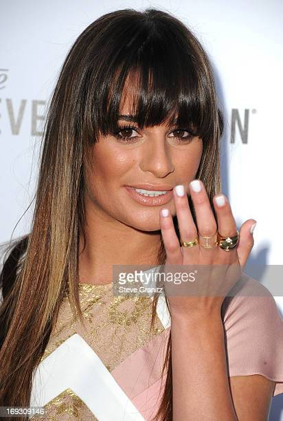 Lea Michele arrives at the The Beverly Hilton Unveils Redesigned Aqua Star Pool By Estee Stanley at The Beverly Hilton Hotel on May 22 2013 in...